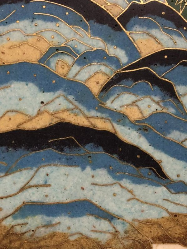 Cloisonne Enamel Landscape Hanging Screen - 6