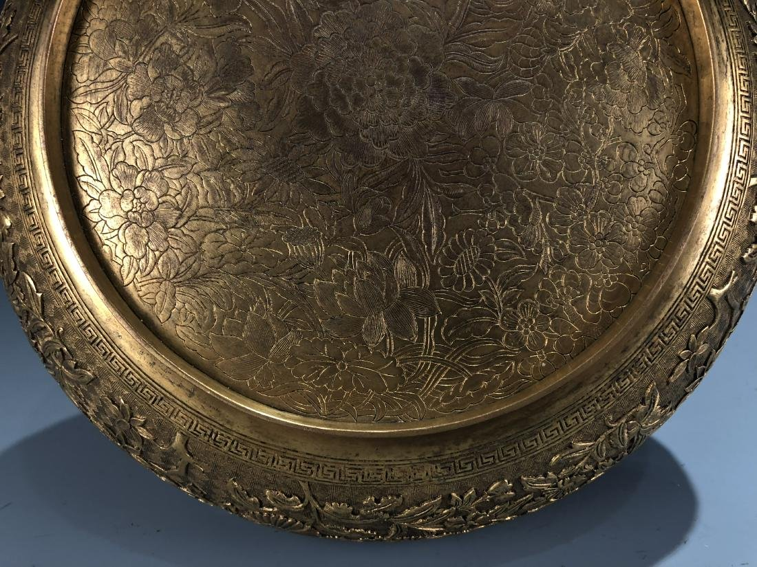 Finely Detailed Gilt Bronze Circular Box - 7