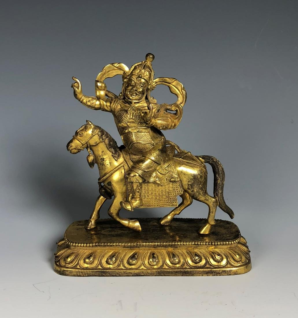 Gilt Bronze Figure of Palden Lhamo - 3