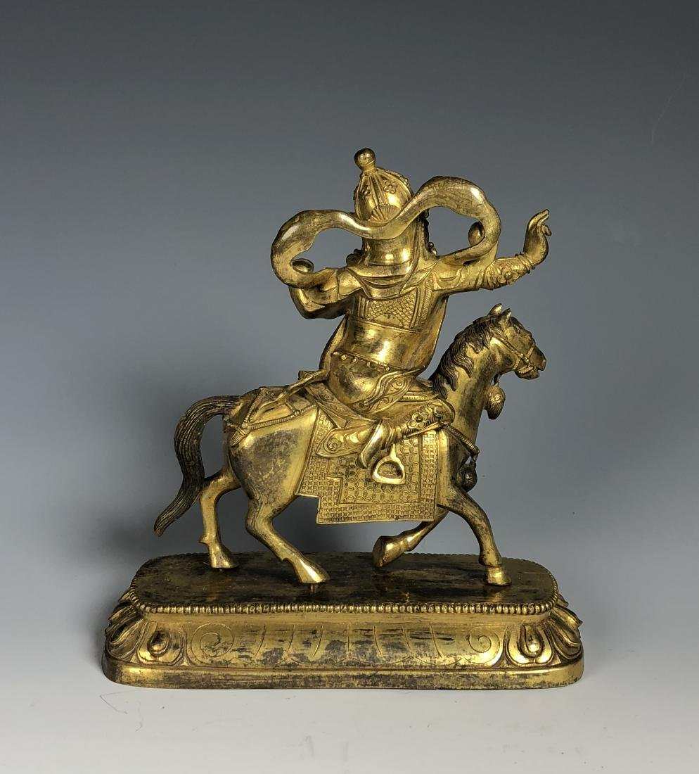 Gilt Bronze Figure of Palden Lhamo - 4