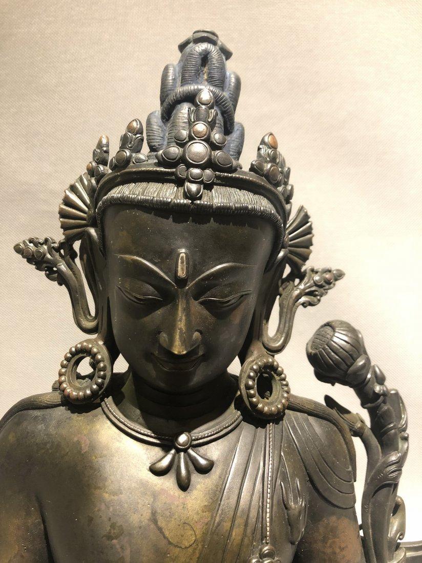 A Large Bronze Figure Of Buddha - 2
