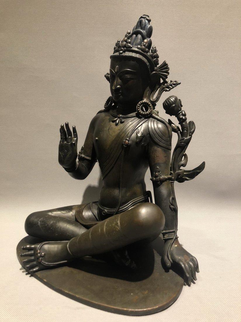 A Large Bronze Figure Of Buddha - 3