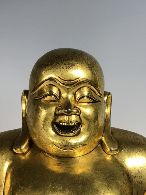Large Gilt Bronze Figure of Buddha - 14