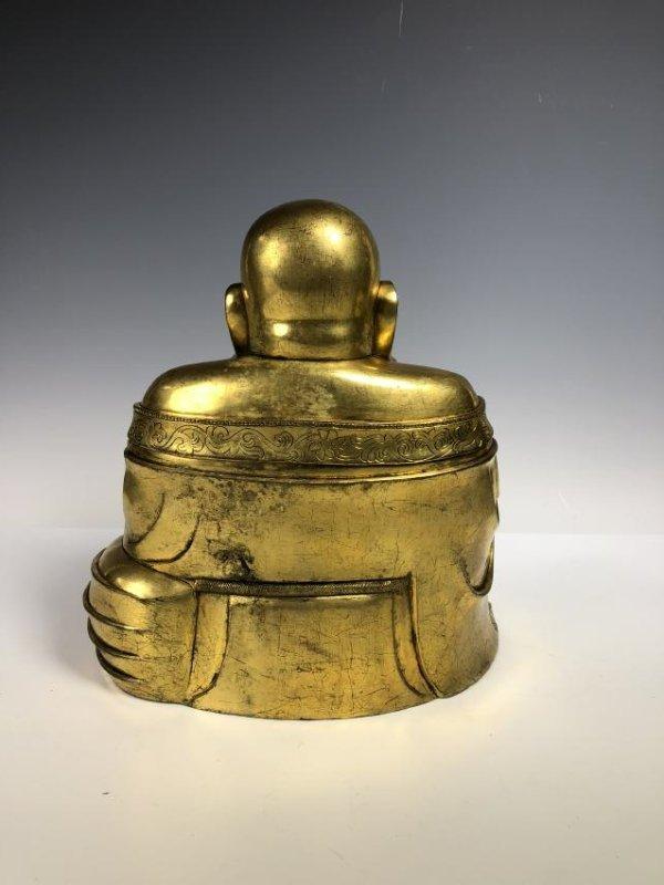 Large Gilt Bronze Figure of Buddha - 4