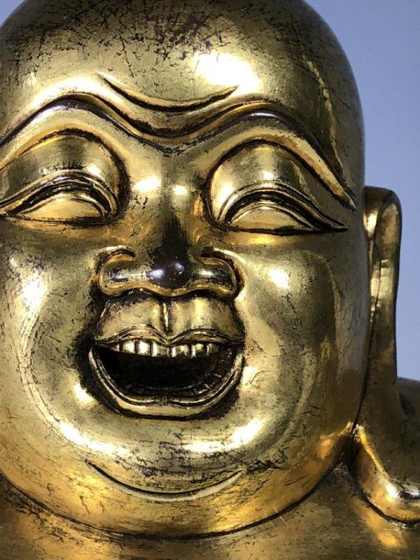 Large Gilt Bronze Figure of Buddha - 8