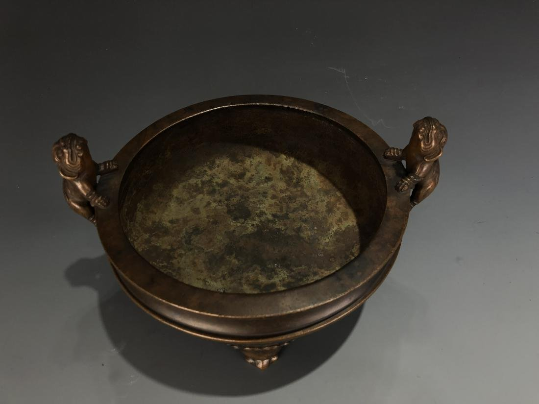 Bronze Tripod Censer with Mark - 3