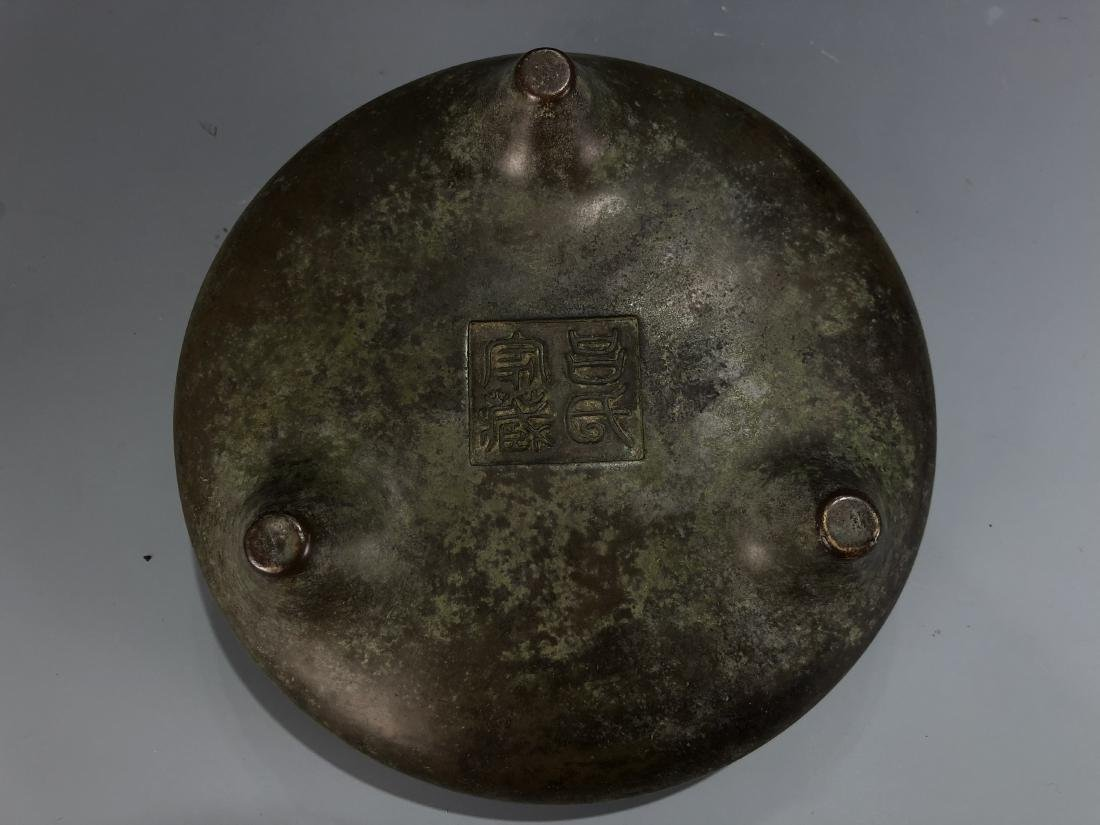 Bronze Tripod Censer with Mark - 6
