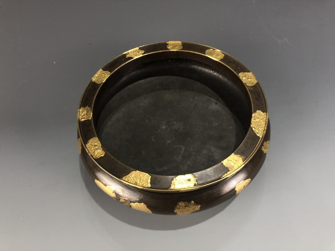 Gold Splash Bronze Tripod Incense Burner - 3