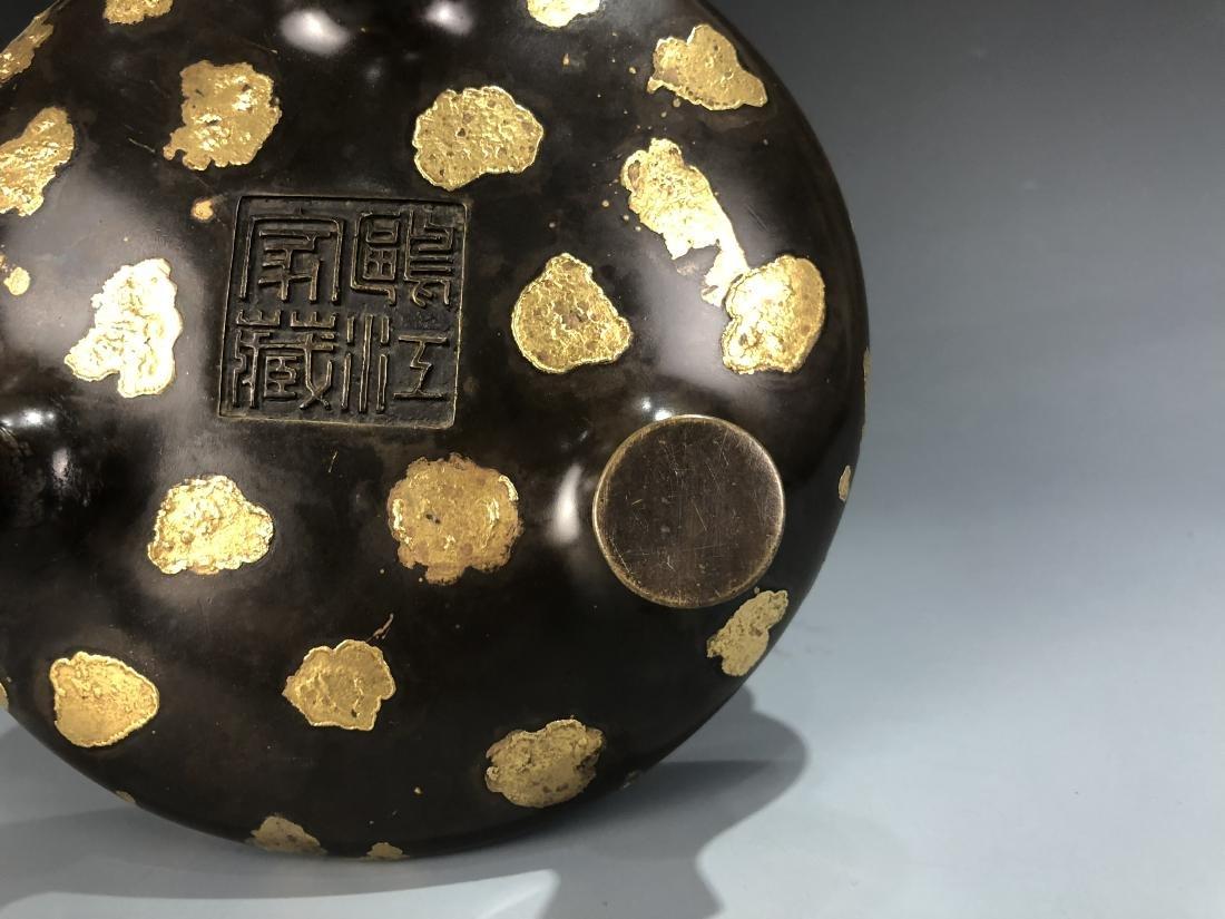 Gold Splash Bronze Tripod Incense Burner - 6