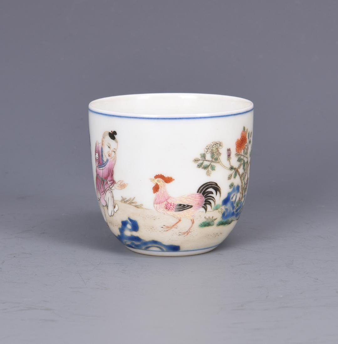 Porcelain Chicken Cup with Mark - 3