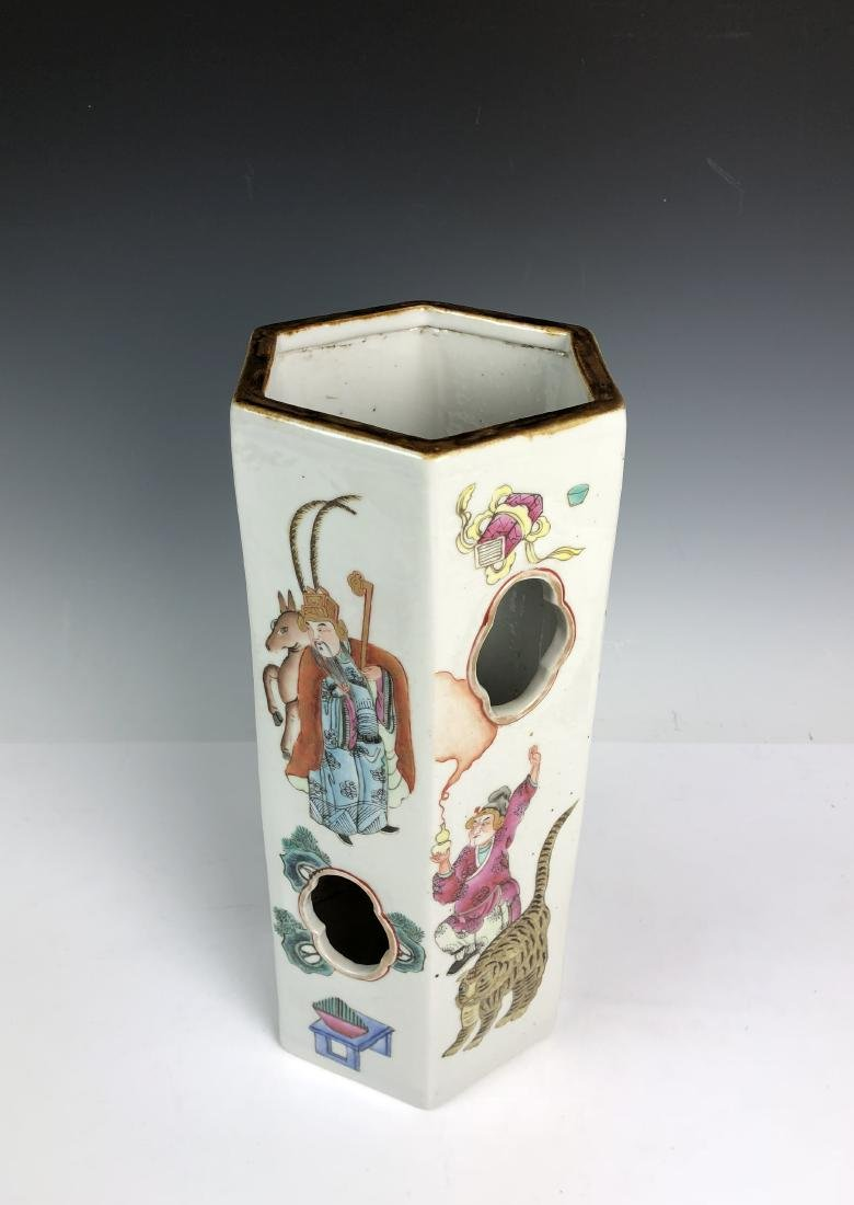 Porcelain Umbrella Stand with Mark - 10