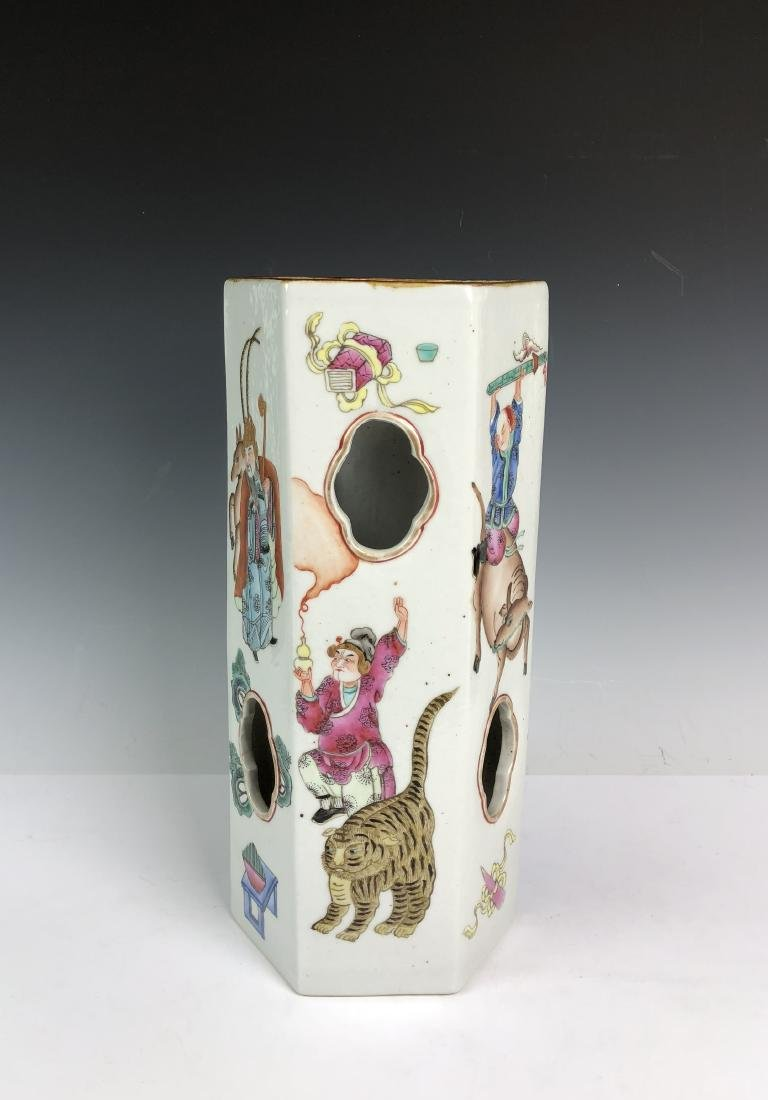 Porcelain Umbrella Stand with Mark - 3