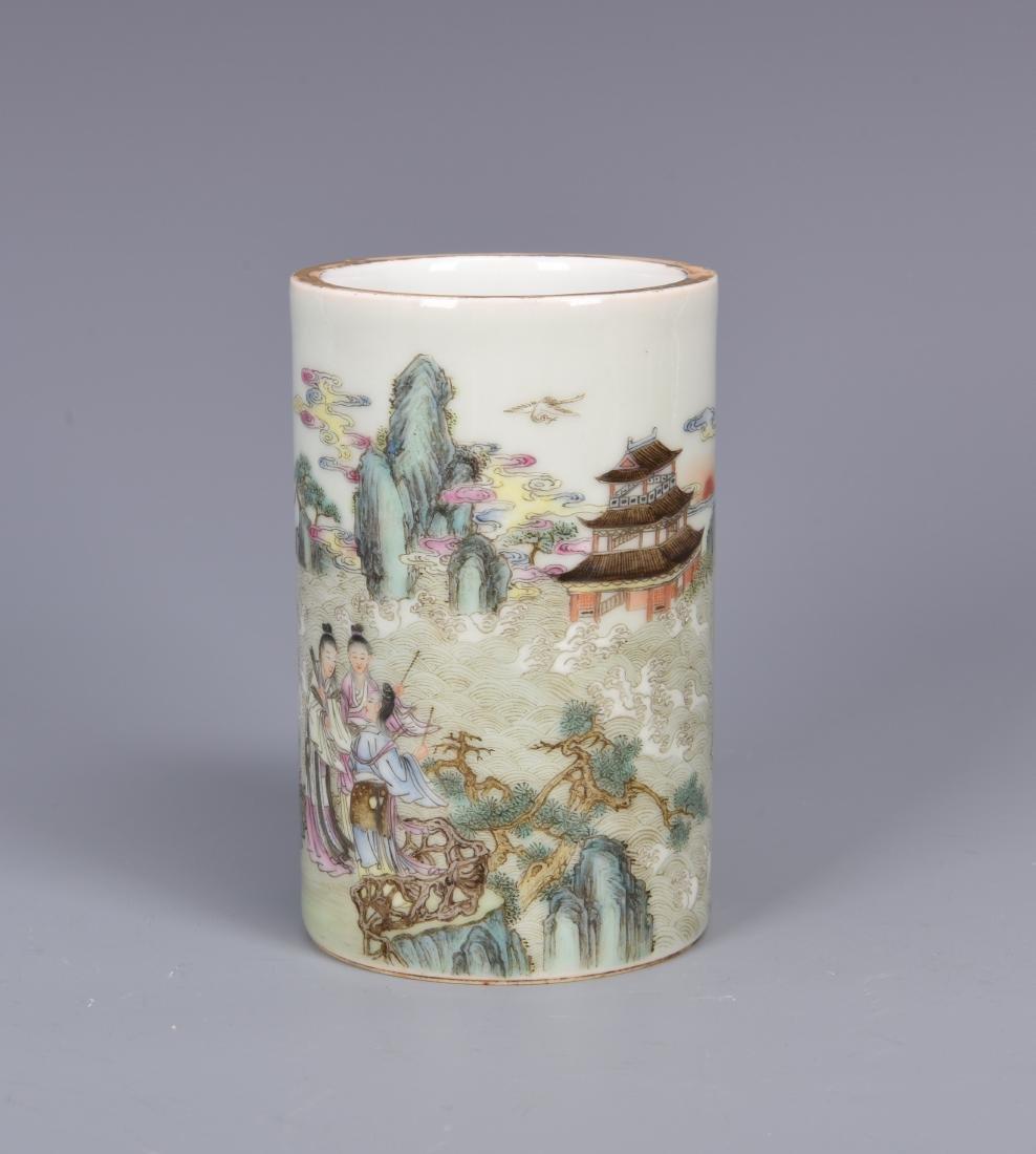porcelain vase with mark