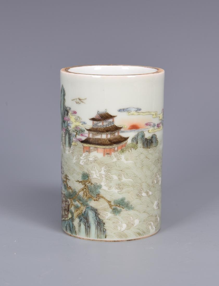 porcelain vase with mark - 2
