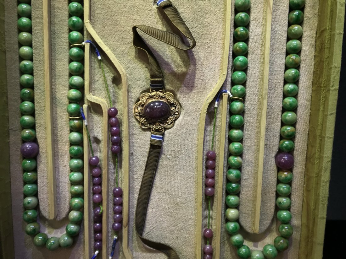 Imperial Court Necklace With Jadeite Tourmaline - 10