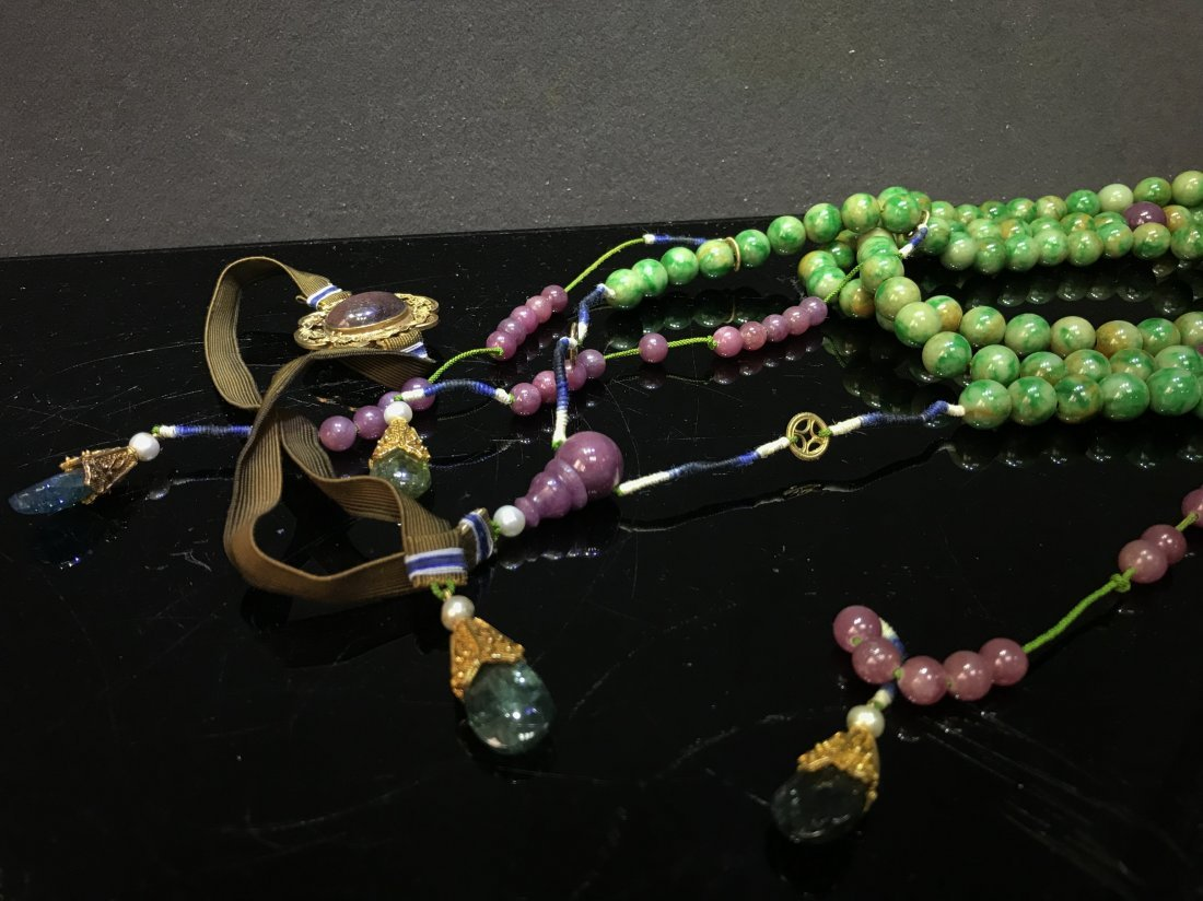 Imperial Court Necklace With Jadeite Tourmaline - 3