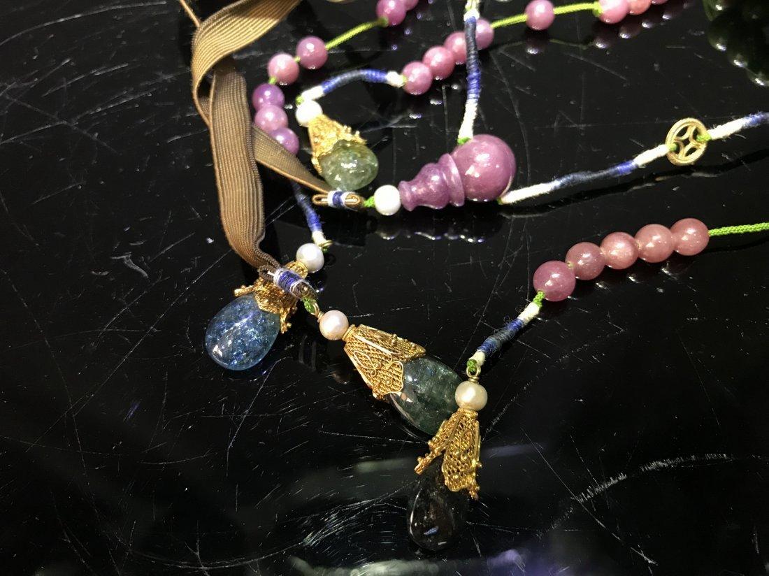 Imperial Court Necklace With Jadeite Tourmaline - 4