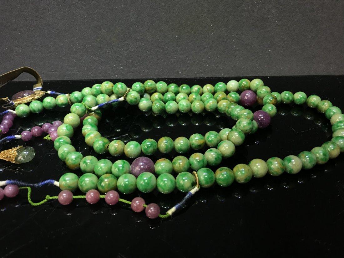 Imperial Court Necklace With Jadeite Tourmaline - 7