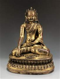 Gilt Bronze Figure of Shakyamuni