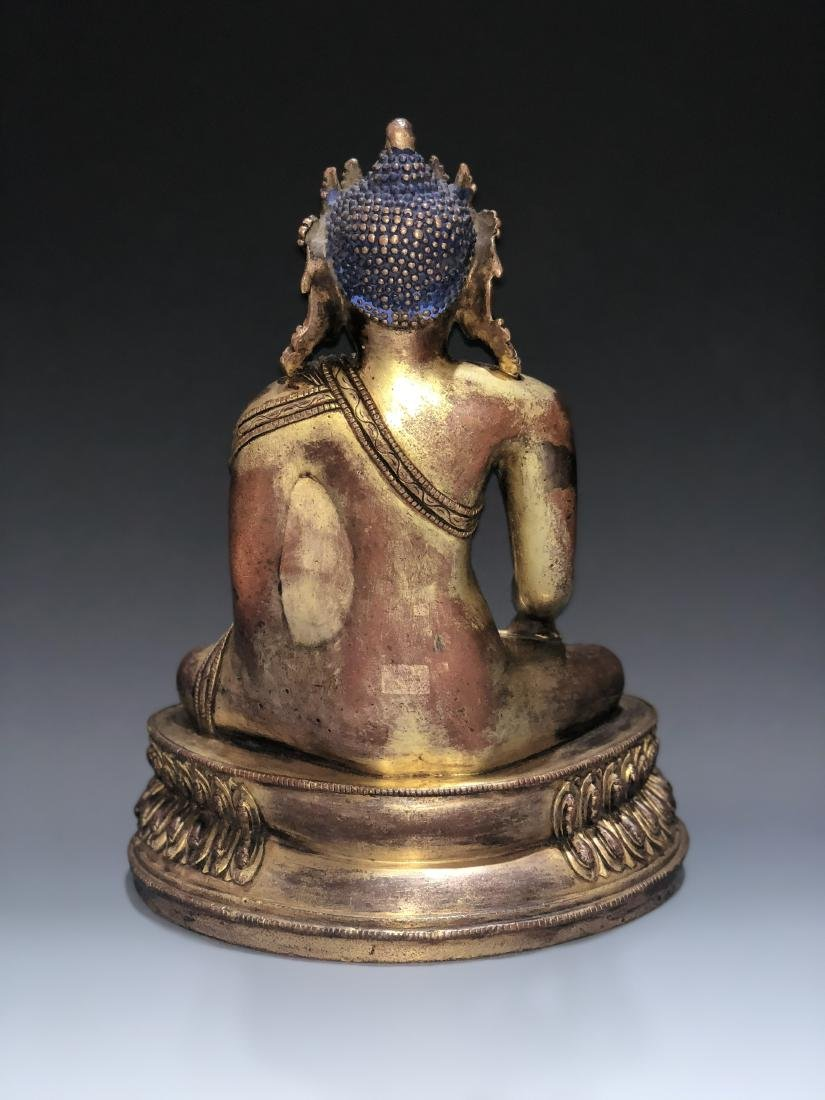 Gilt Bronze Figure of Shakyamuni - 2