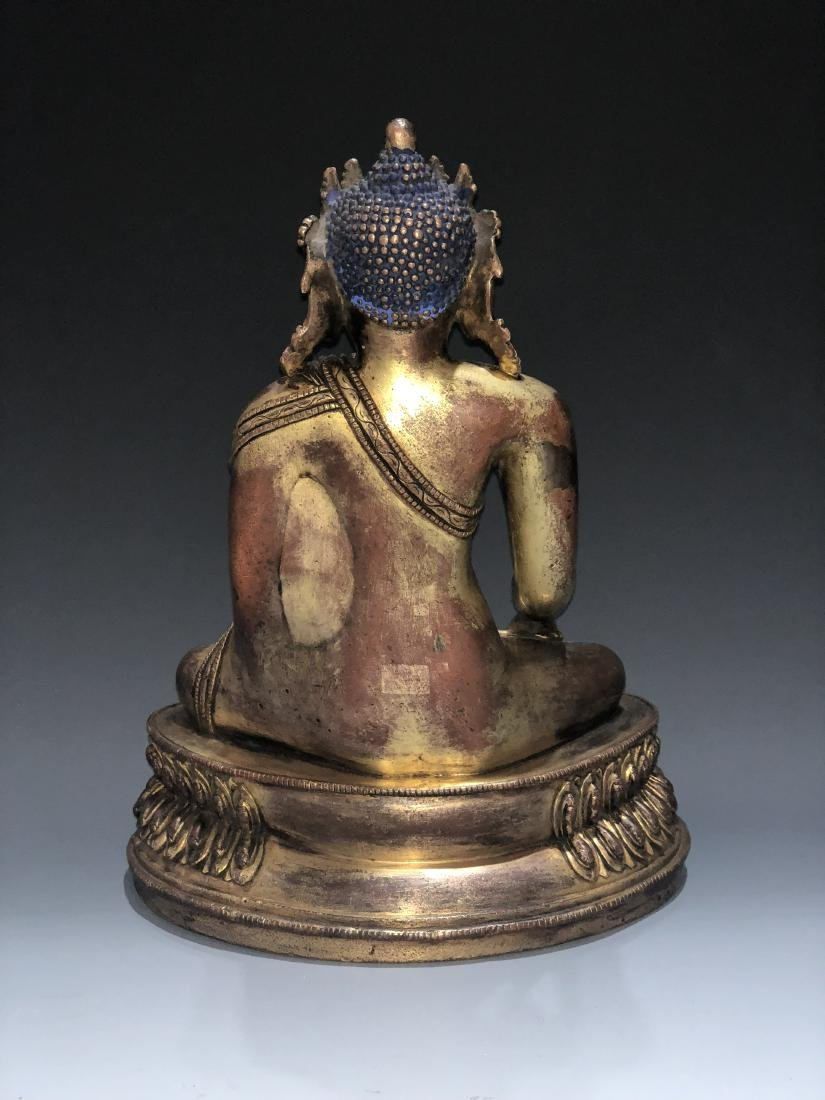 Gilt Bronze Figure of Shakyamuni - 6
