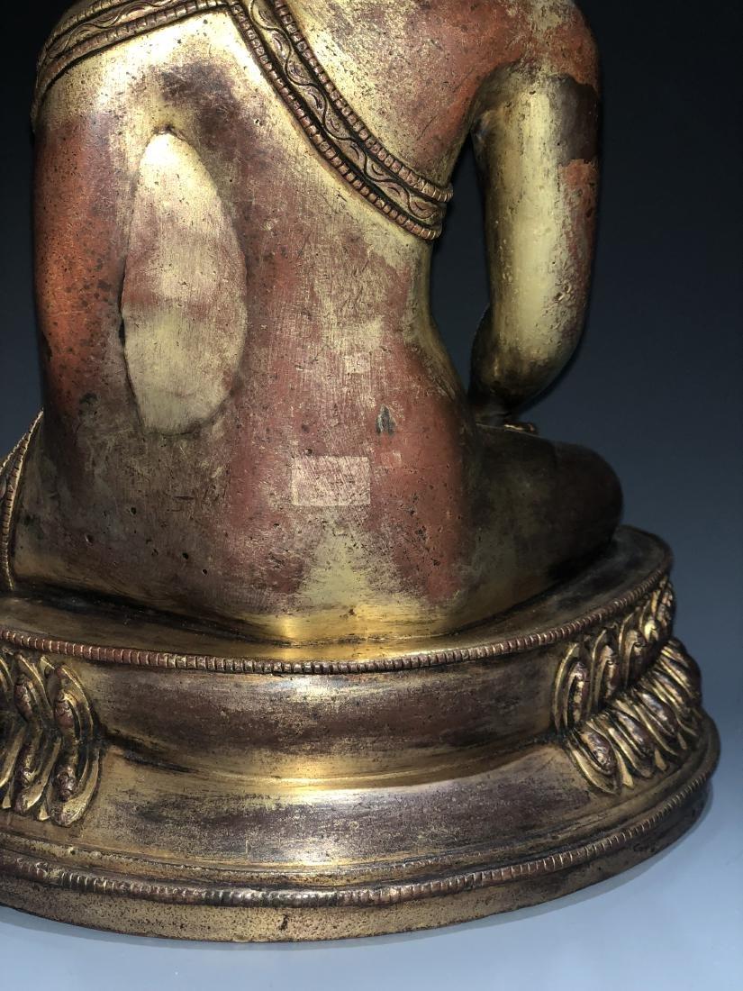 Gilt Bronze Figure of Shakyamuni - 7