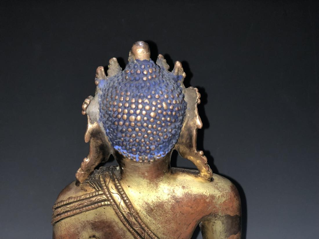 Gilt Bronze Figure of Shakyamuni - 8
