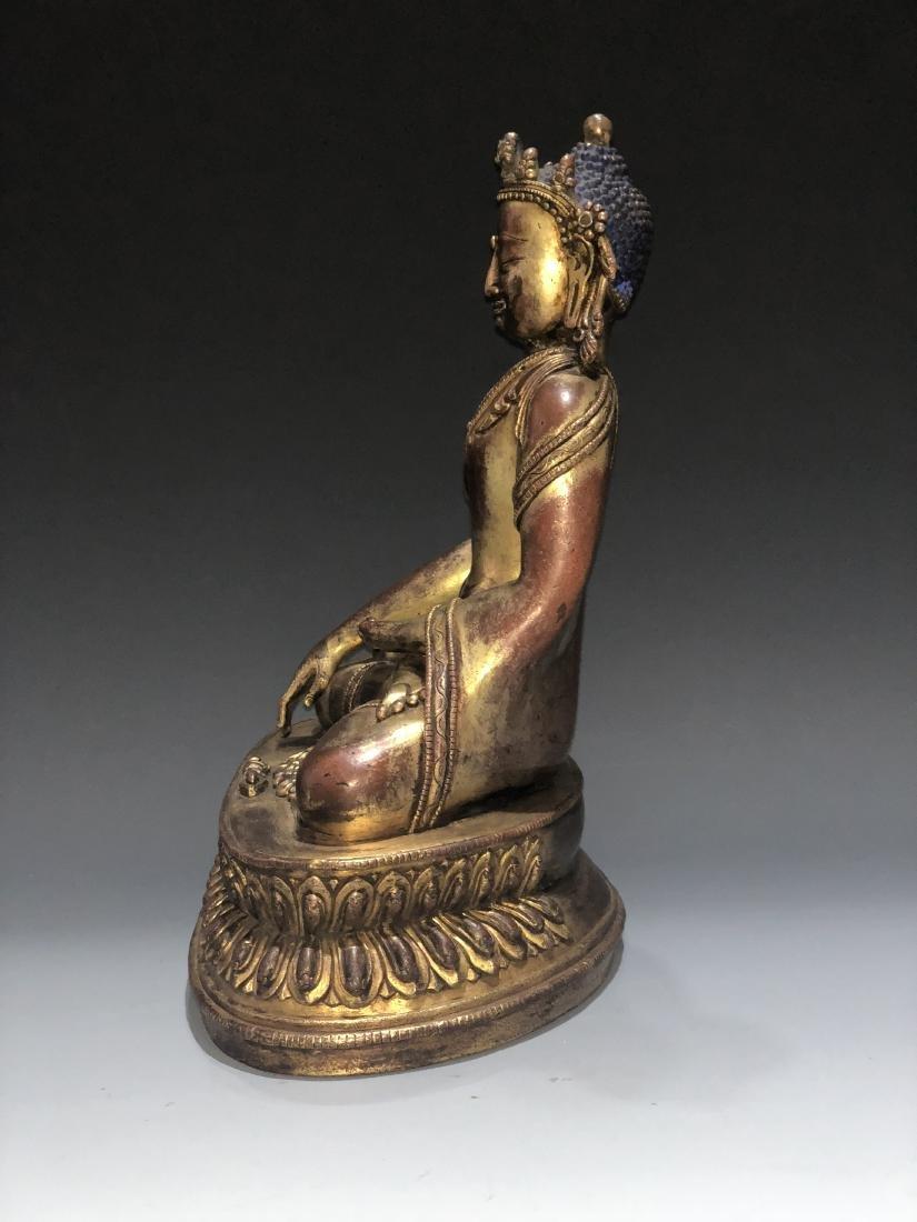 Gilt Bronze Figure of Shakyamuni - 9