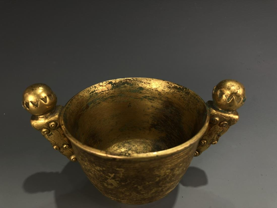 Gilt Bronze Cup with Mark - 2