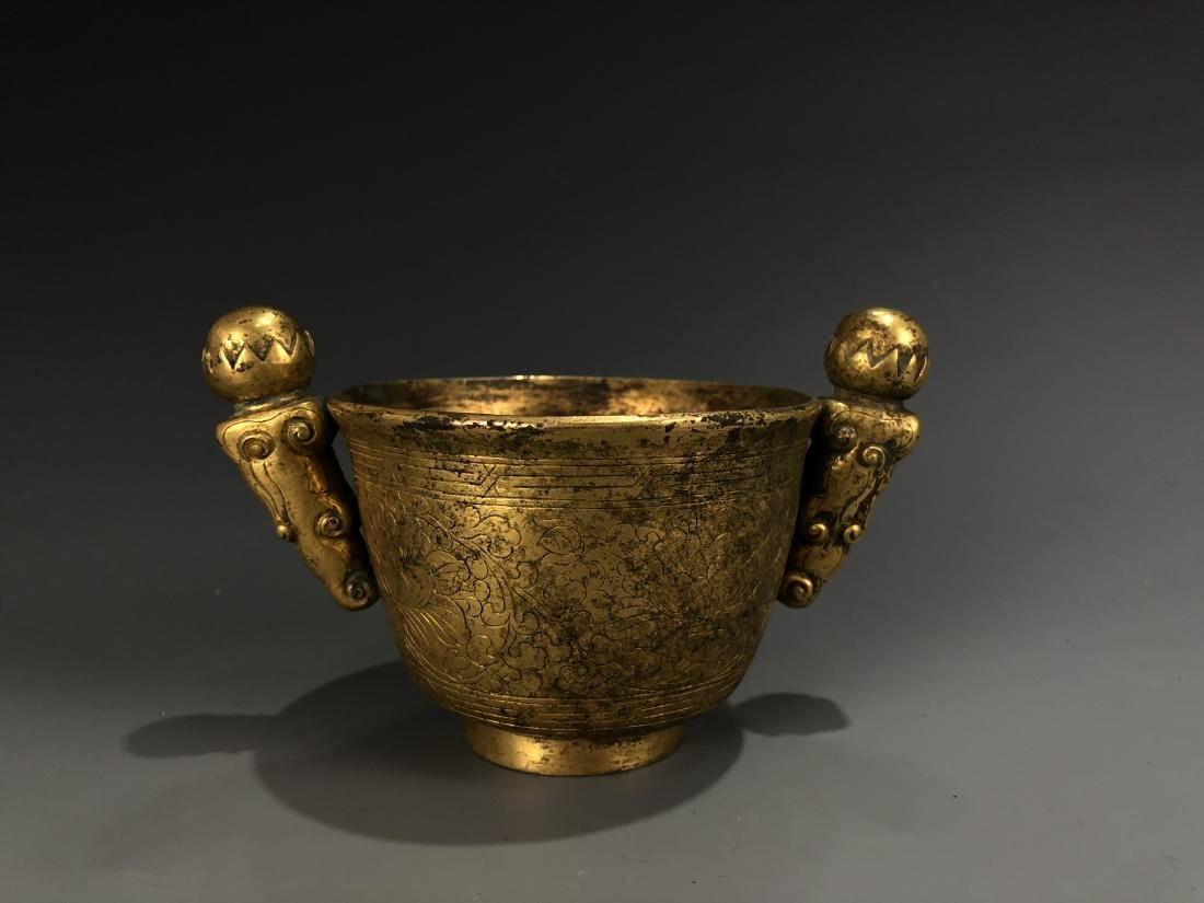 Gilt Bronze Cup with Mark - 3