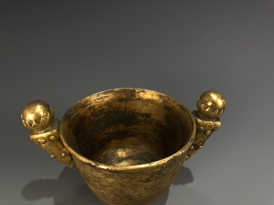 Gilt Bronze Cup with Mark - 4
