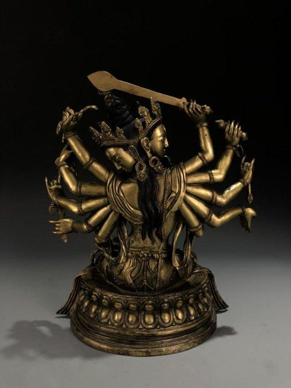 Gilt Bronze Figure of Manjusri - 7