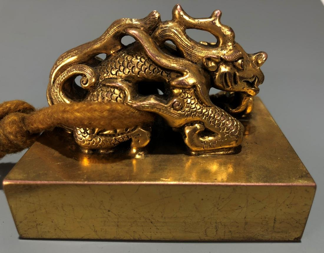 Gilt Bronze Dragon Seal - 3