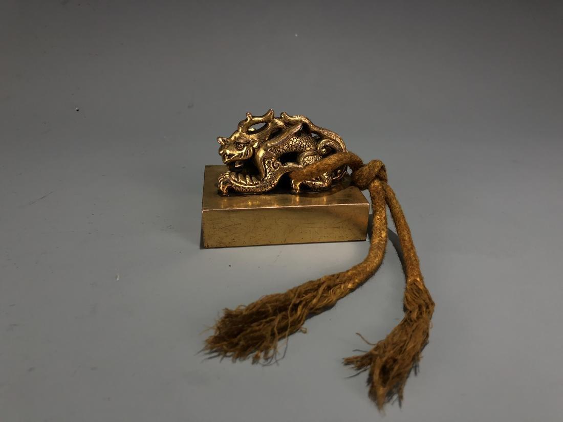 Gilt Bronze Dragon Seal - 7