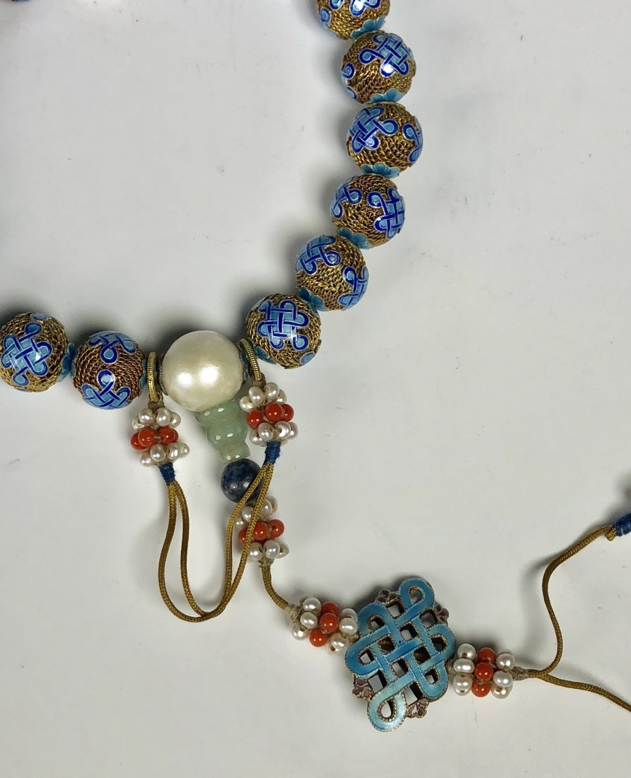 Lapis Gilt Silver Prayer Beads - 2