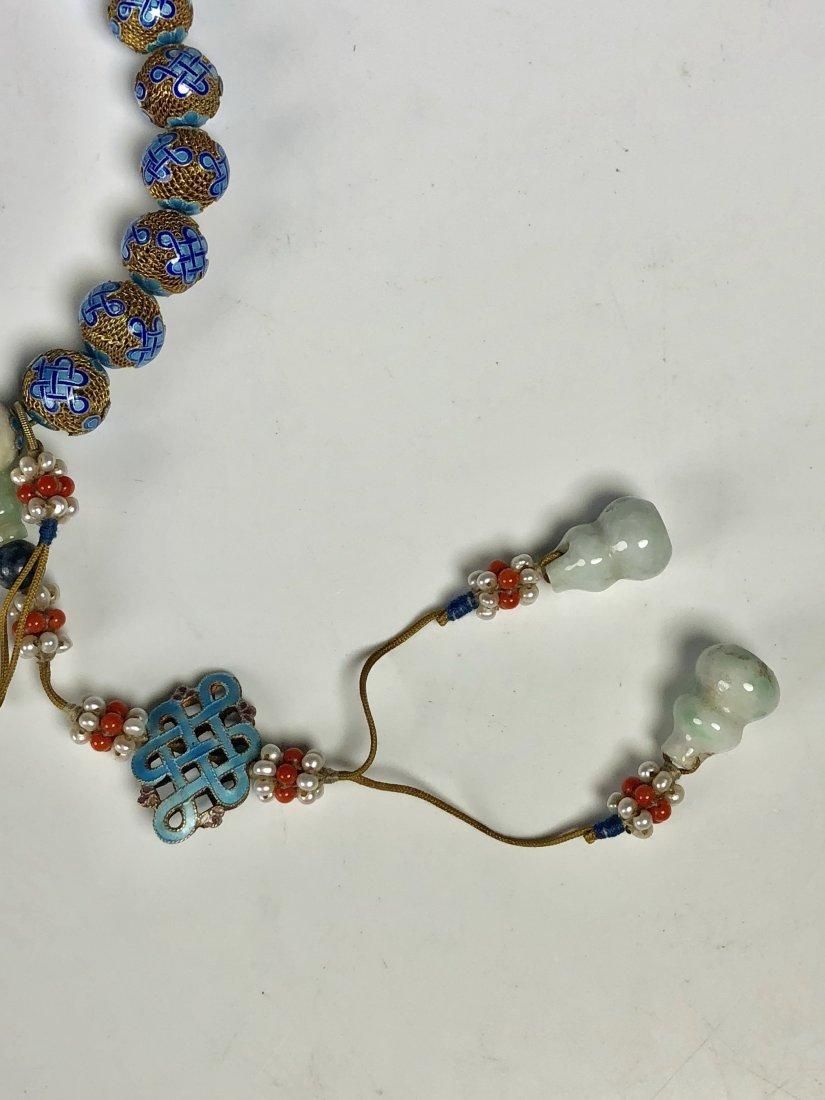 Lapis Gilt Silver Prayer Beads - 3
