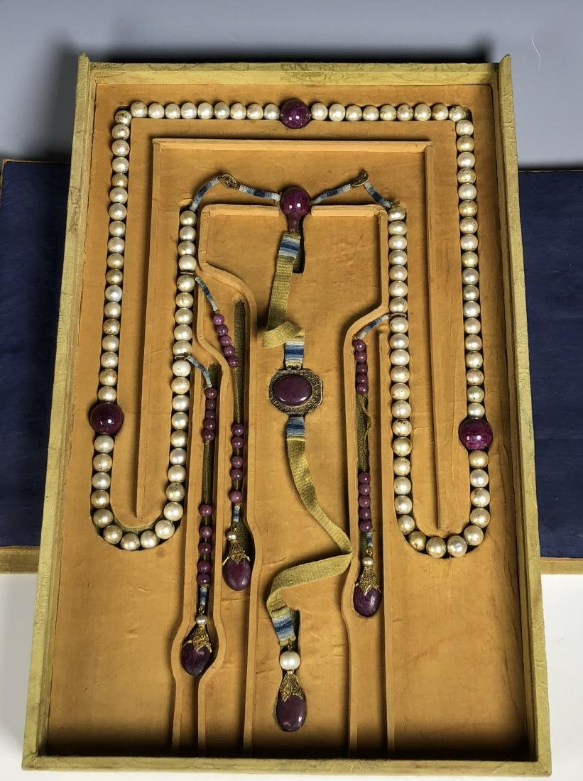 Imperial Court Necklace With Pearl Beads,Tourmaline....