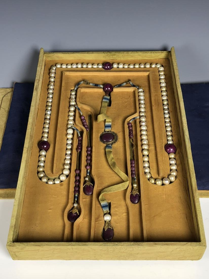 Imperial Court Necklace With Pearl Beads,Tourmaline.... - 2