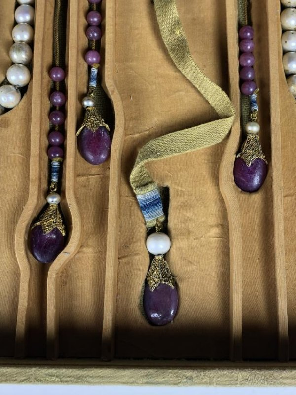 Imperial Court Necklace With Pearl Beads,Tourmaline.... - 6