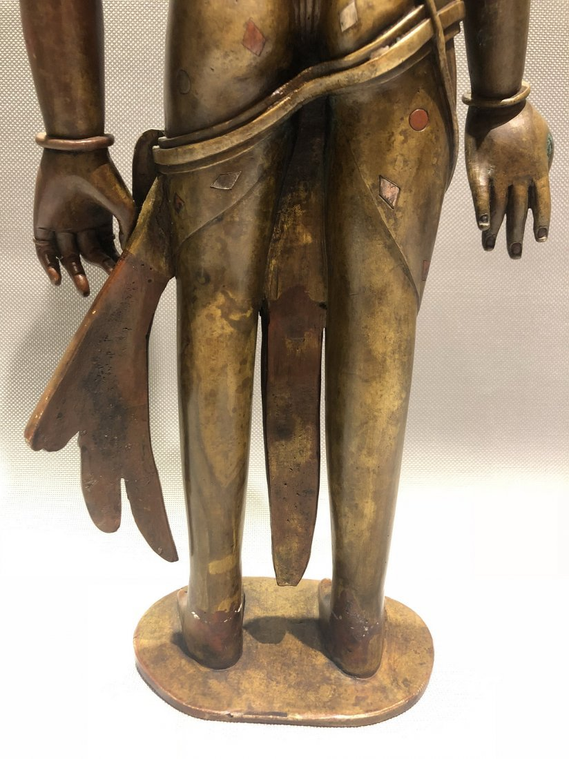 Large Bronze Figure Of Standing Guanyin - 2