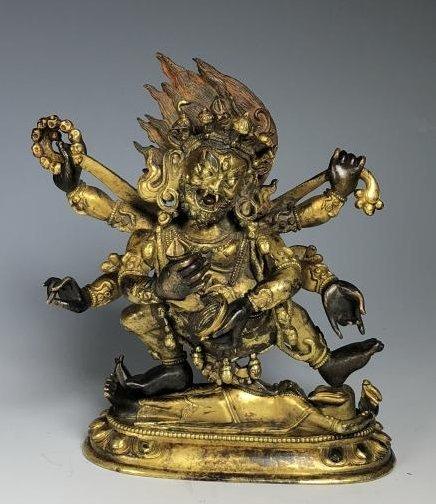 Gilt Bronze Figure of Mahakala
