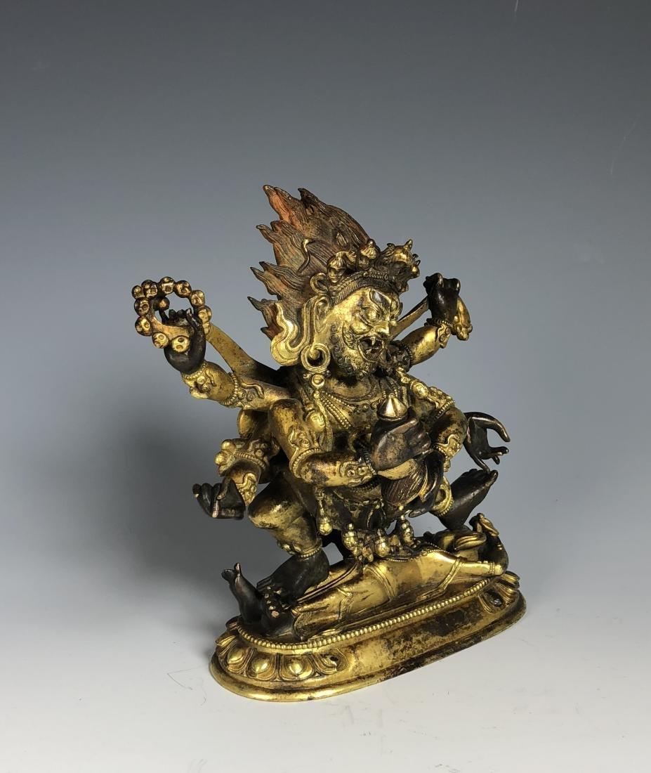 Gilt Bronze Figure of Mahakala - 8