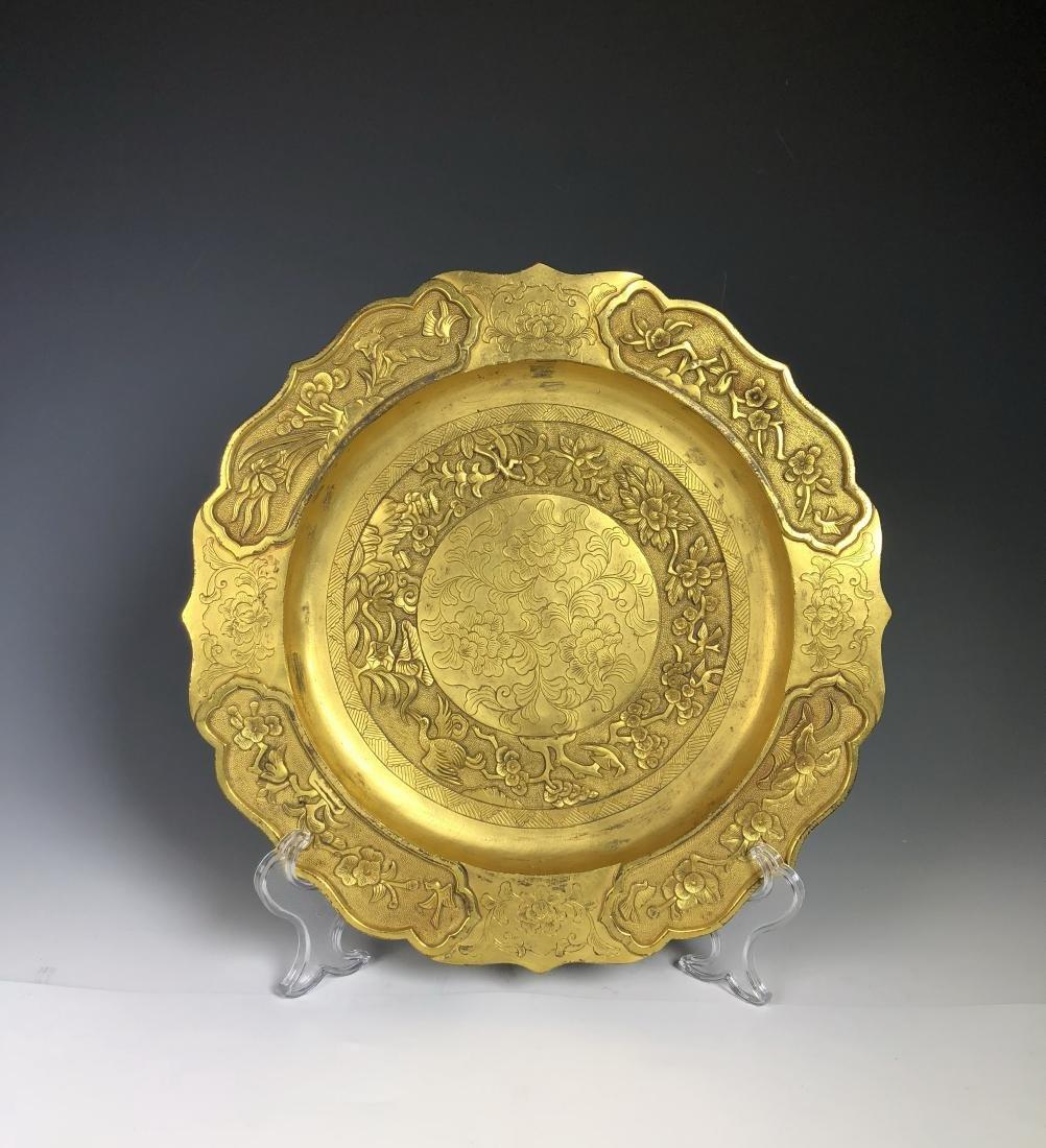 Gilt Bronze Plate