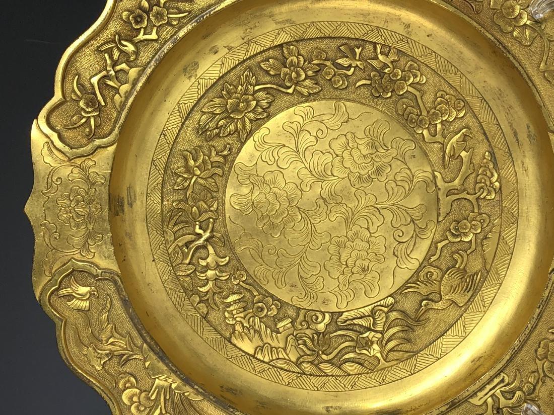 Gilt Bronze Plate - 3