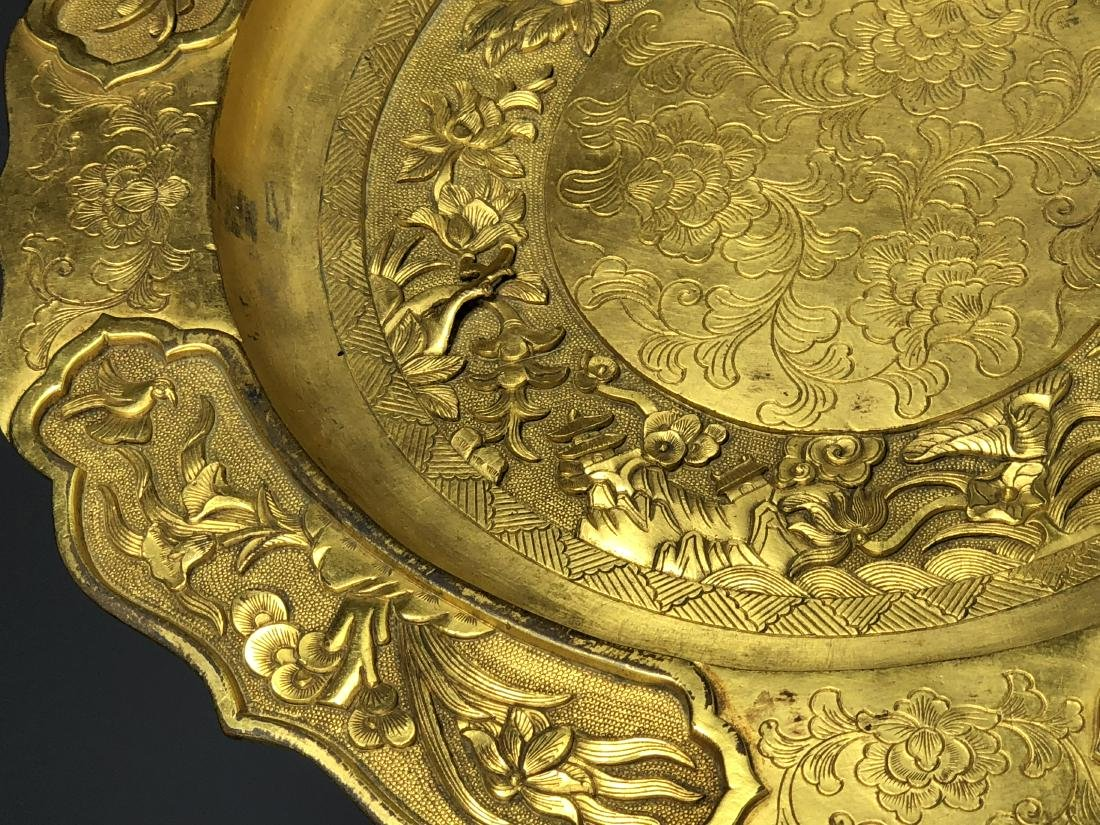 Gilt Bronze Plate - 8