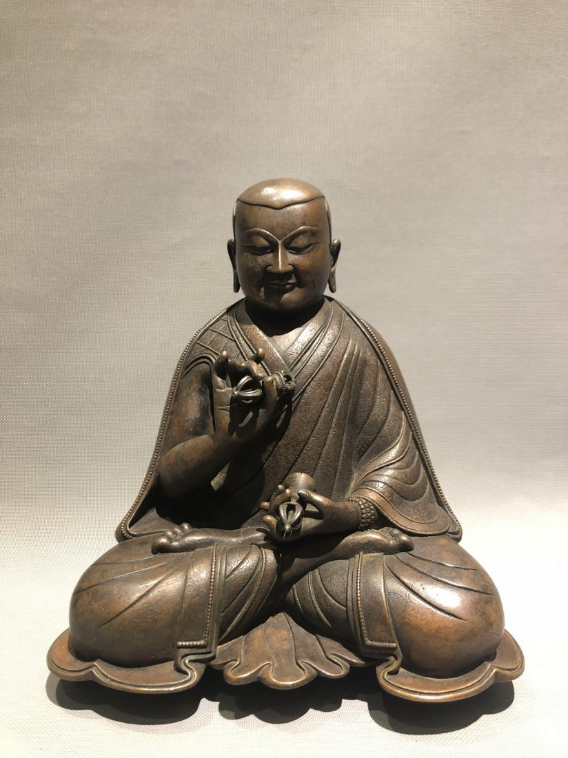 Bronze Figure of Seated Buddha