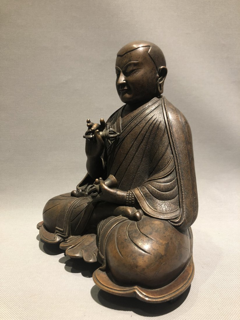 Bronze Figure of Seated Buddha - 2