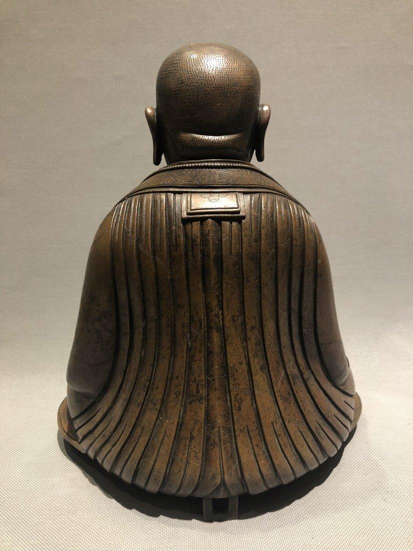 Bronze Figure of Seated Buddha - 3