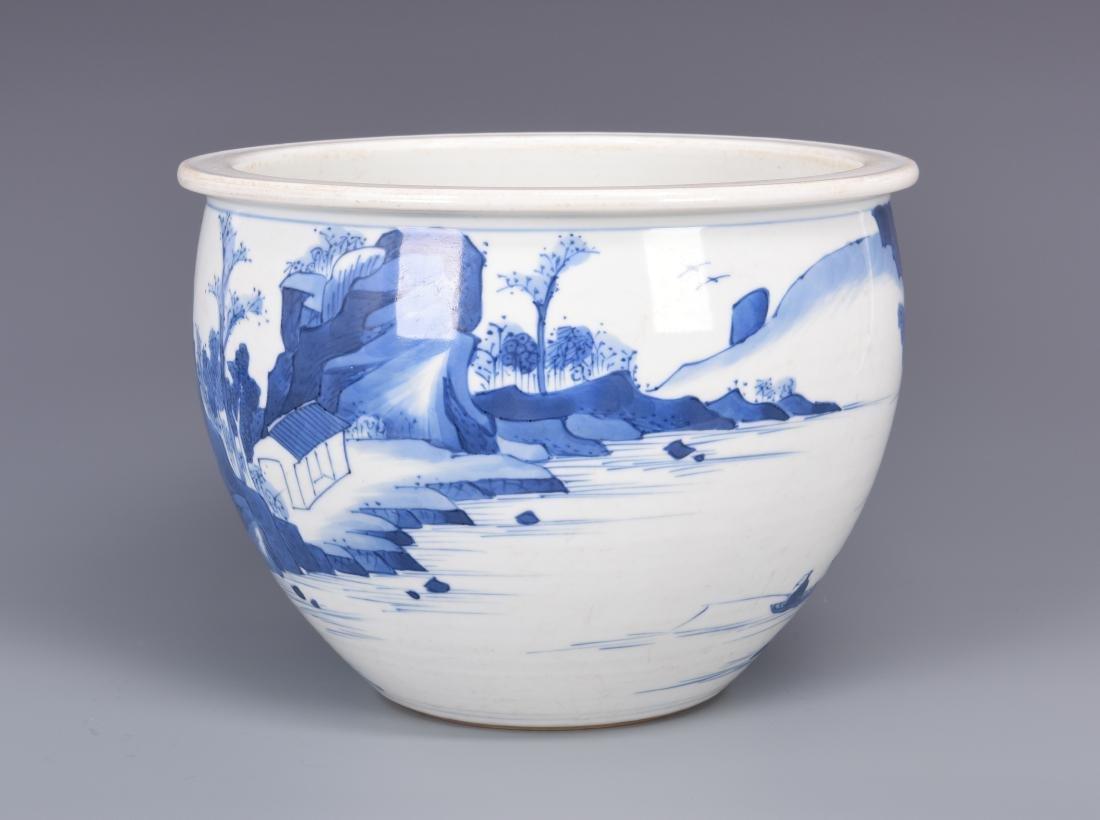 Blue and White Porcelain Planter - 2