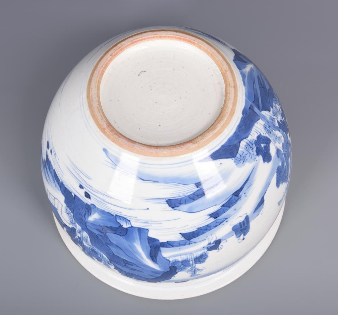 Blue and White Porcelain Planter - 7